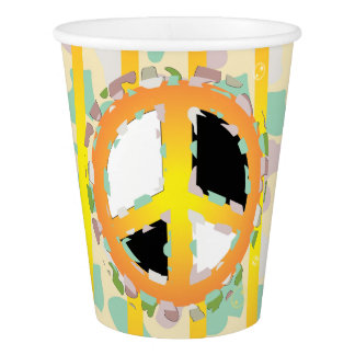 PEACE SIGN CARTOON  Paper Cup, 9 oz Paper Cup