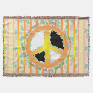 PEACE SIGN CARTOON Throw Blanket
