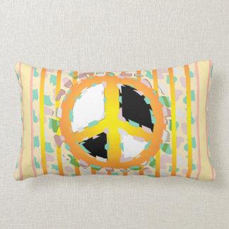 PEACE SIGN CARTOON THROW PILLOW Lumbar Pillow