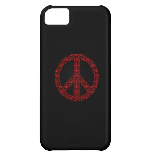 Peace Sign Cover For iPhone 5C