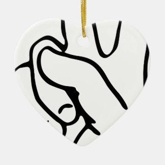 Peace Sign Ceramic Ornament