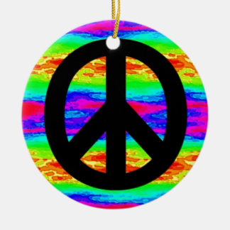 Peace Sign Ceramic Ornament