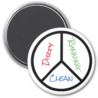 Peace Sign Clean Dirty Running Dishwasher Magnet