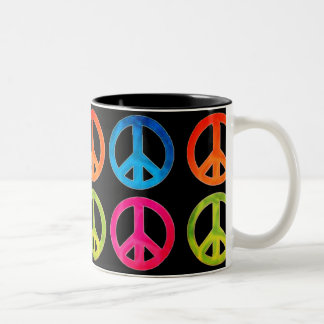 Peace Sign Coffee Cup
