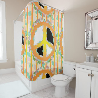PEACE SIGN Curtain SHOWER CARTOON