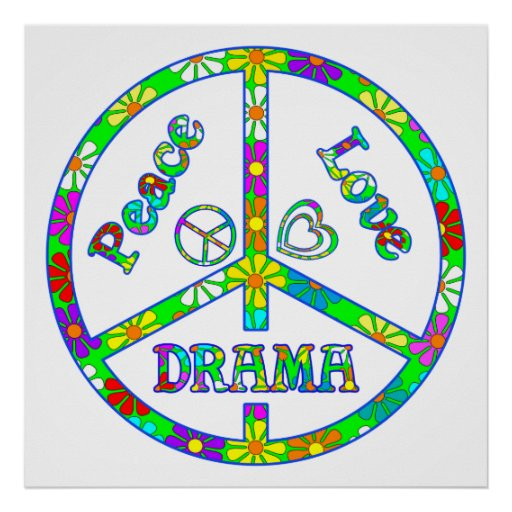Peace Sign Drama Poster