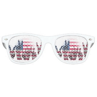 Peace Sign Fingers American Flag Retro Sunglasses