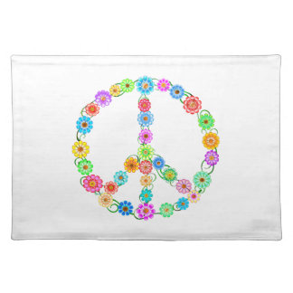 Peace Sign Flowers Place Mats