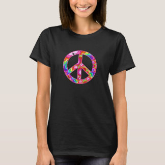 Peace Sign Fractal Groovy Trip T-Shirt