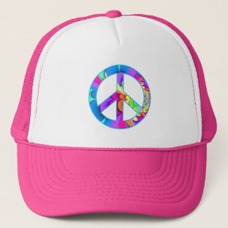 Peace Sign Fractal Trucker Hat