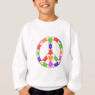 Peace Sign Fun Flowers Sweatshirt