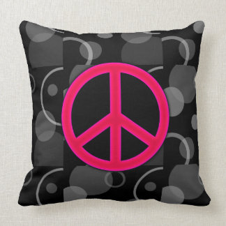 Peace Sign Geometric Circles Throw Pillow