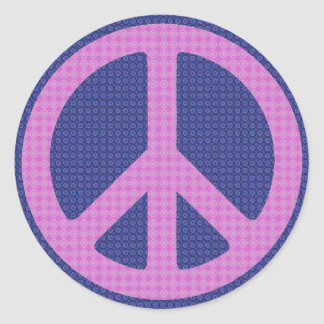 Peace Sign Groovy Classic Round Sticker