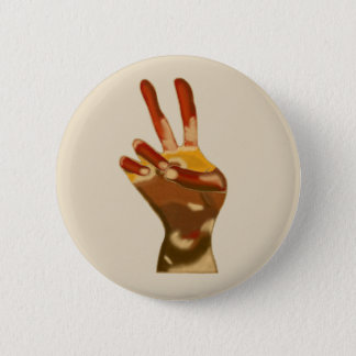 Peace Sign Hand Multi Skin Tones Pins Buttons