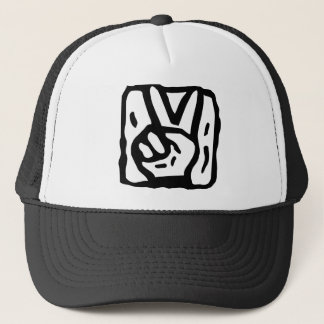Peace Sign Hands Trucker Hat