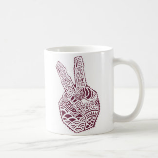 Peace Sign Henna Tattoo Coffee Mug