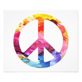 Peace Sign Hippie Girl 70s Watercolor Art