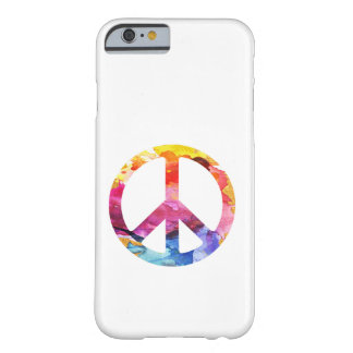 Peace Sign Hippie Girl 70s Watercolor Art Barely There iPhone 6 Case