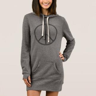 Peace Sign Hoodie Dress
