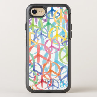 Peace Sign in Many Colors OtterBox Symmetry iPhone 8/7 Case
