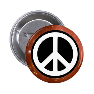 PEACE SIGN IN SPACE - 2 INCH ROUND BUTTON