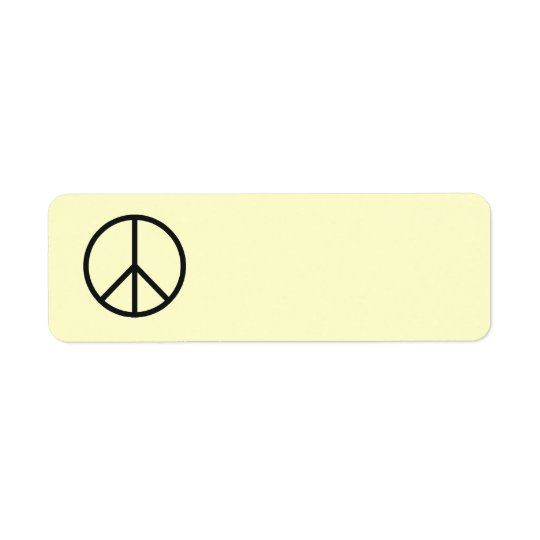 Peace Sign Label- Customize Background Colour