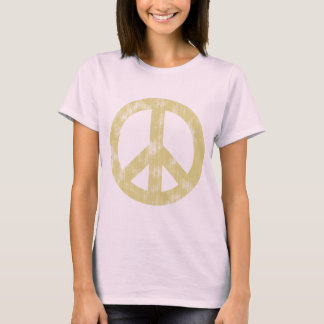 Peace sign light distressed T-Shirt