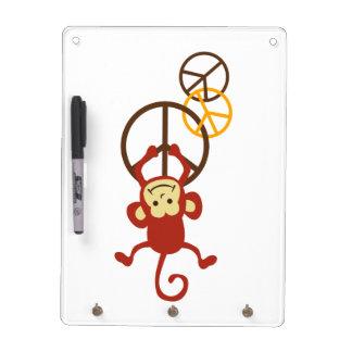 Peace Sign Monkeys Dry-Erase Board