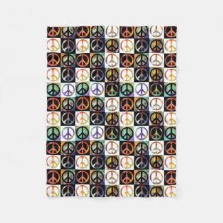 Peace Sign Mosaic Small Fleece Blanket