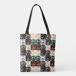 Peace Sign Mosaic Tote Bag