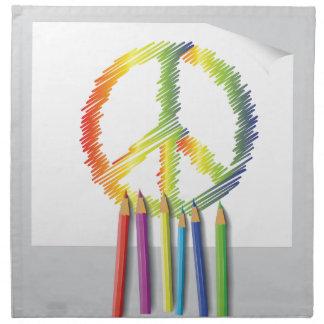 peace sign napkin