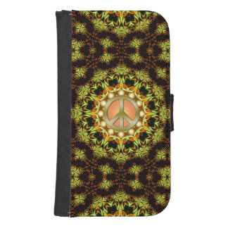 Peace Sign Nature Energy Phone Wallet Case