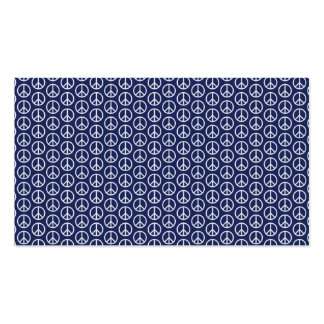 Peace Sign Pattern on Midnight Blue Business Card