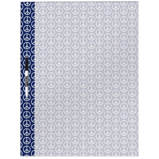 Peace Sign Pattern on Midnight Blue Dry Erase Board