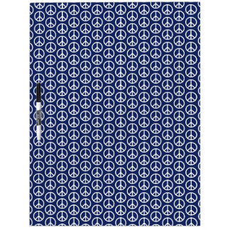 Peace Sign Pattern on Midnight Blue Dry Erase Whiteboard