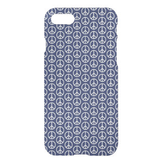 Peace Sign Pattern on Midnight Blue iPhone 7 Case
