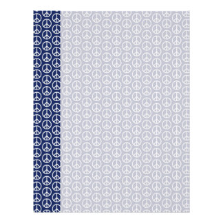Peace Sign Pattern on Midnight Blue Letterhead Design