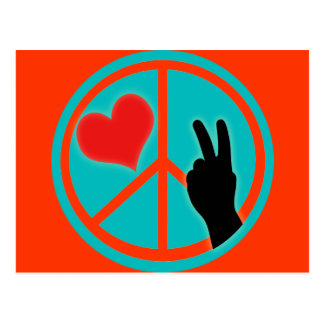 Peace Sign Peace and Love Postcard