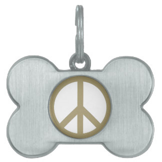 Peace Sign Pet Name Tag