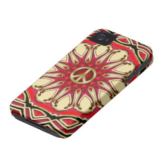 Peace Sign Pink Sun iPhone 4 Case