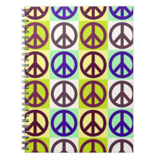 Peace Sign Pop Art Notebook