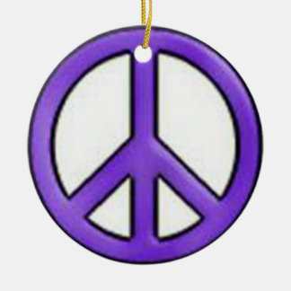 Peace Sign Purple Ornament