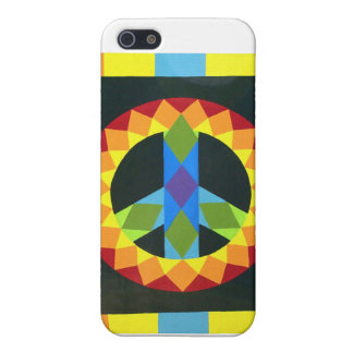 Peace Sign Quilt Block Case For The iPhone 5