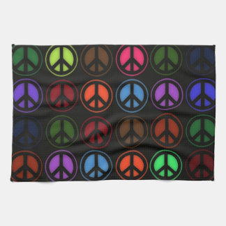 Peace Sign Retro Hippy Love Kitchen Towel
