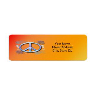 Peace Sign Return Address Label
