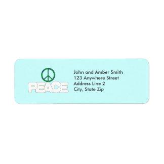 Peace Sign Return Address Labels