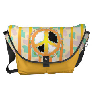 PEACE SIGN  Rickshaw LARGE Messenger Bag