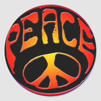 peace-sign round sticker