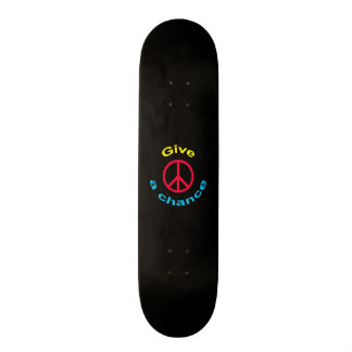 Peace Sign Skate Board Deck