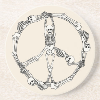 Peace Sign Skeletons Coaster